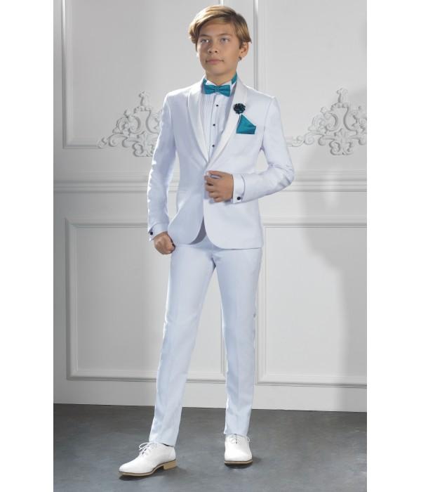 Costume garçon de cérémonie blanc   Jean